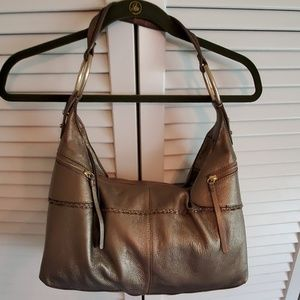 Bronze Sigrid Olsen Leather Hobo Bag